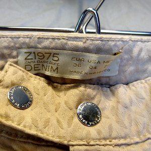 Zara Jeans - zara basic z1975 denim tan size 4 skinny jeans
